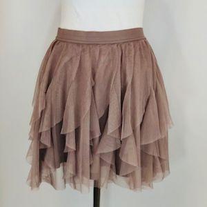Tulle mini Taupe/Blush Laura Conrad Skirt